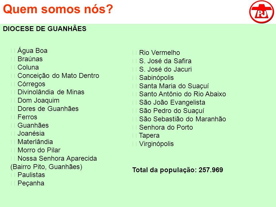 Quem somos nós DIOCESE DE GUANHÃES  Água Boa  Rio Vermelho