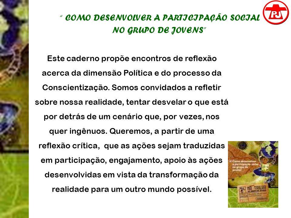 COMO DESENVOLVER A PARTICIPAÇÃO SOCIAL