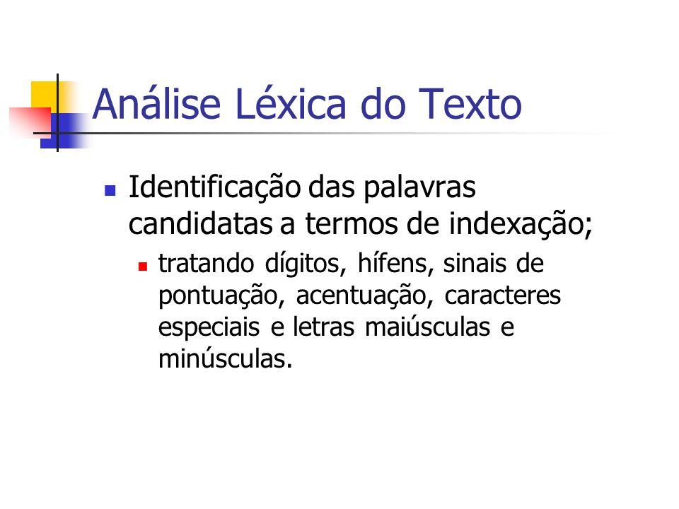 Análise Léxica do Texto