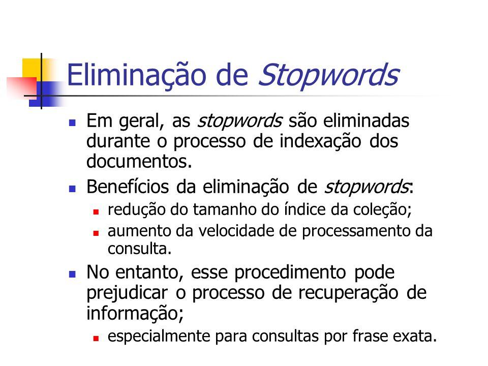 Eliminação de Stopwords
