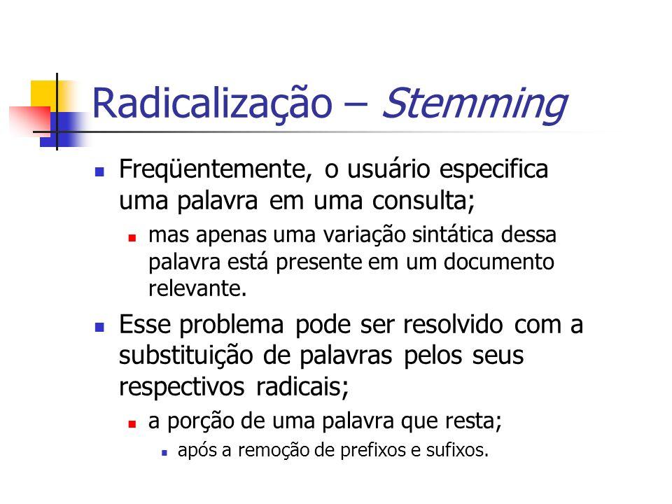 Radicalização – Stemming