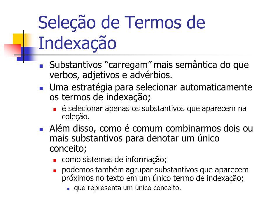 Seleção de Termos de Indexação