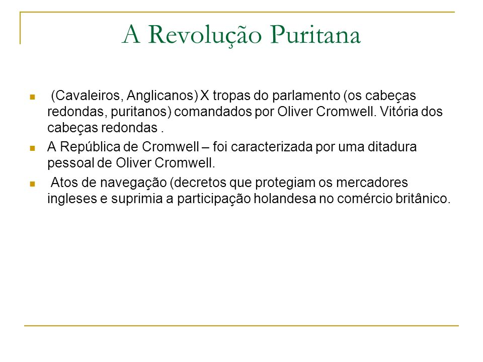 A Revolução Puritana