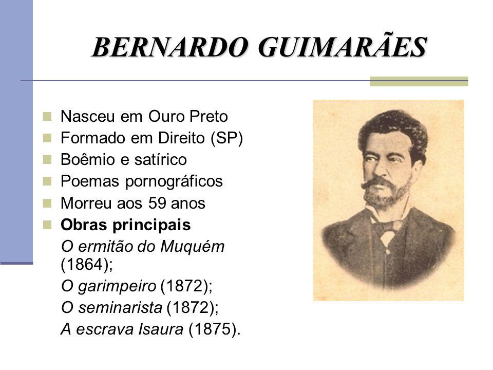 BERNARDO GUIMARÃES Nasceu em Ouro Preto Formado em Direito (SP)