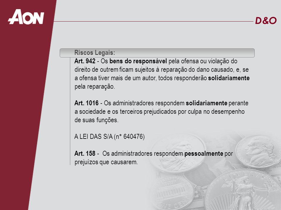 D&O Riscos Legais: