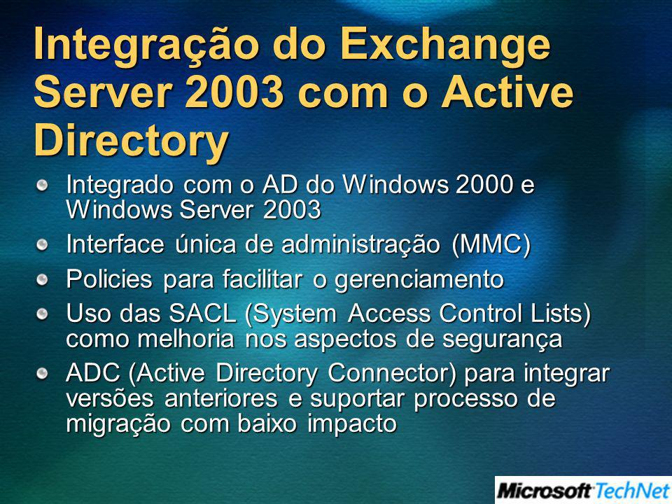 Integração do Exchange Server 2003 com o Active Directory