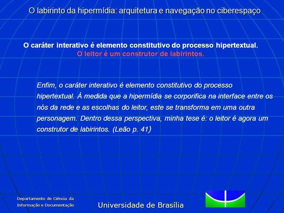 O caráter interativo é elemento constitutivo do processo hipertextual.