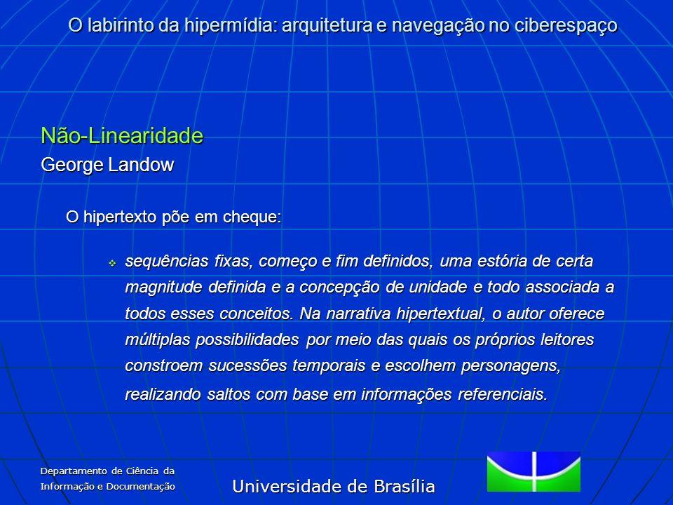 Não-Linearidade George Landow O hipertexto põe em cheque: