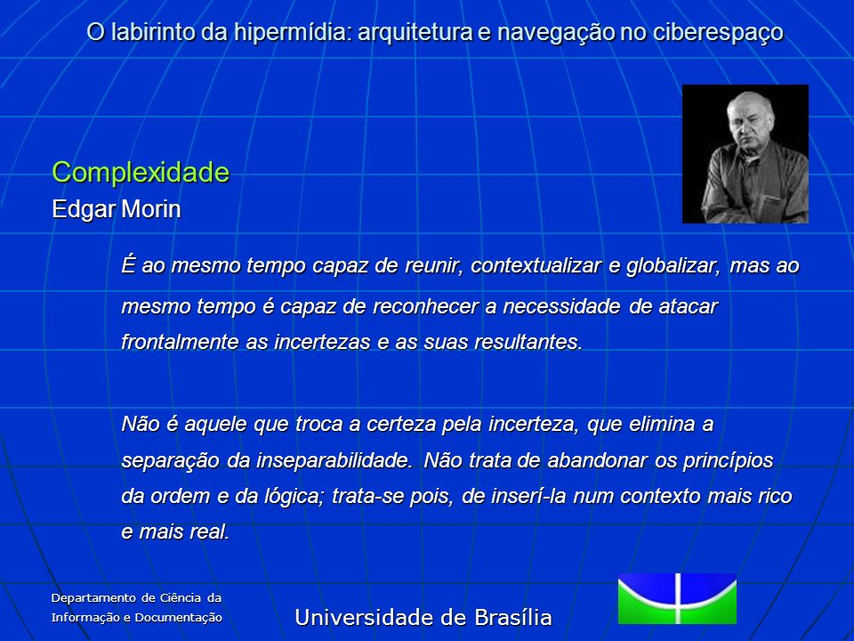 ComplexidadeEdgar Morin.