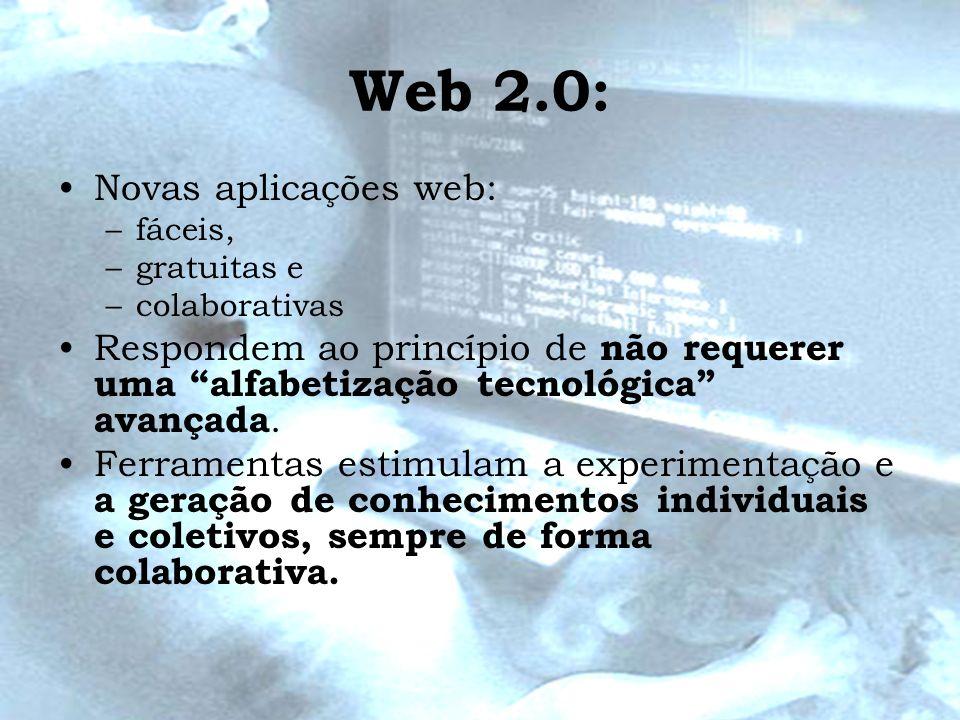Web 2.0: Novas aplicações web: