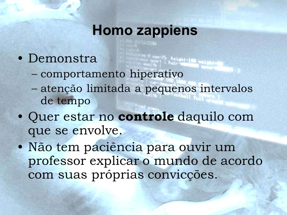 Homo zappiens Demonstra