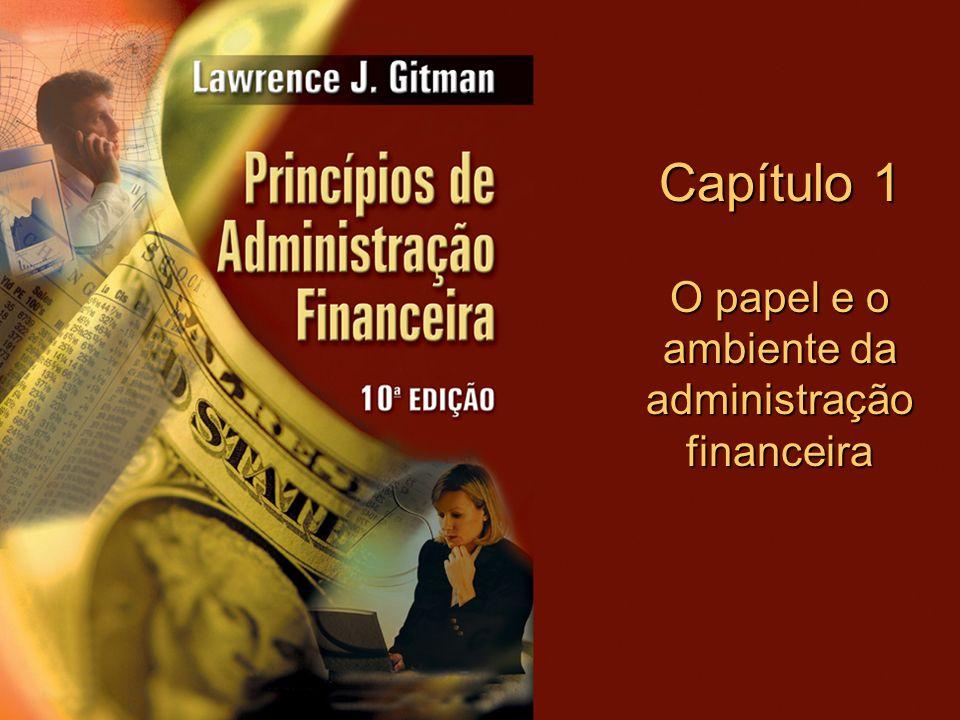 O papel e o ambiente da administração financeira