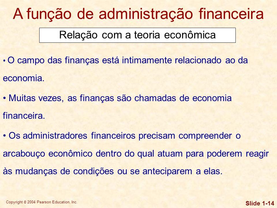A função de administração financeira