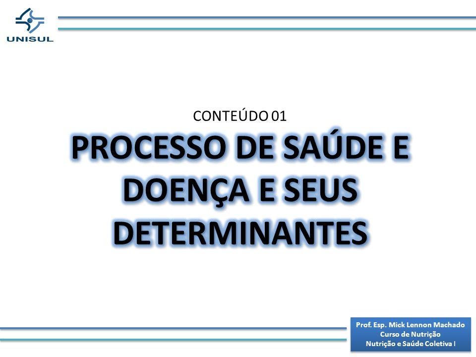 PROCESSO DE SAÚDE E DOENÇA E SEUS DETERMINANTES
