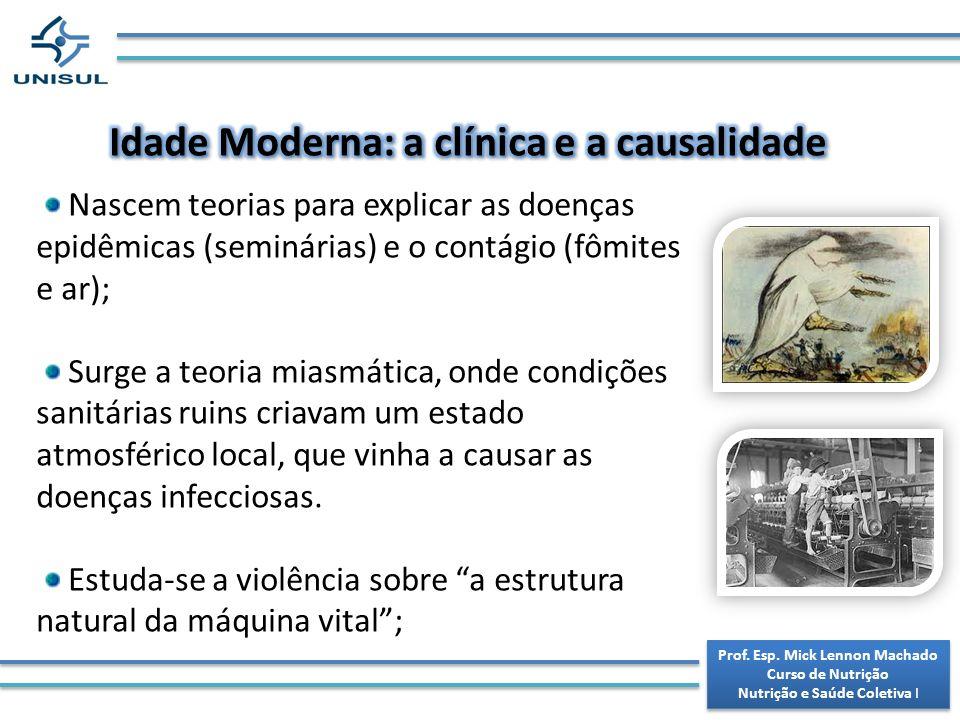 Idade Moderna: a clínica e a causalidade
