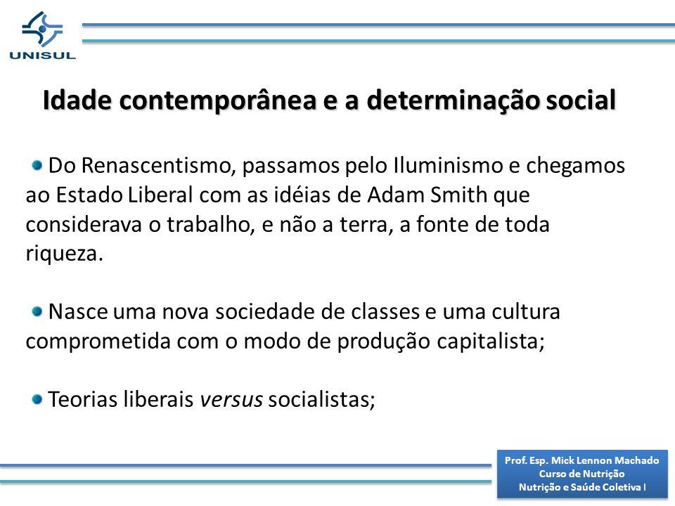 Idade contemporânea e a determinação social