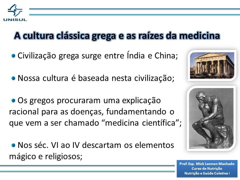 A cultura clássica grega e as raízes da medicina