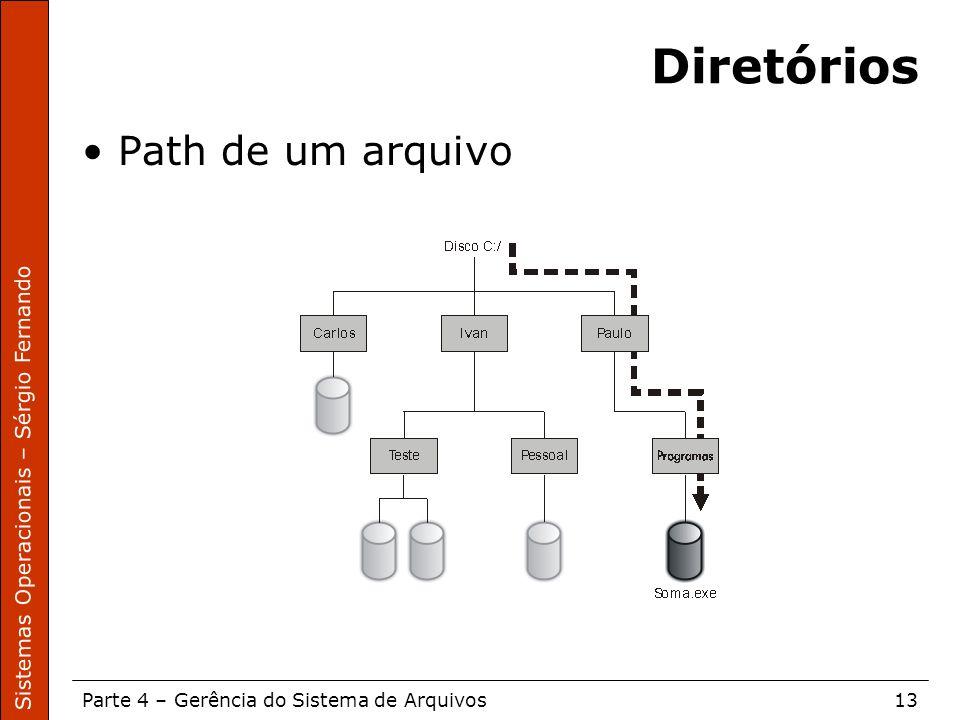 Diretórios Path de um arquivo