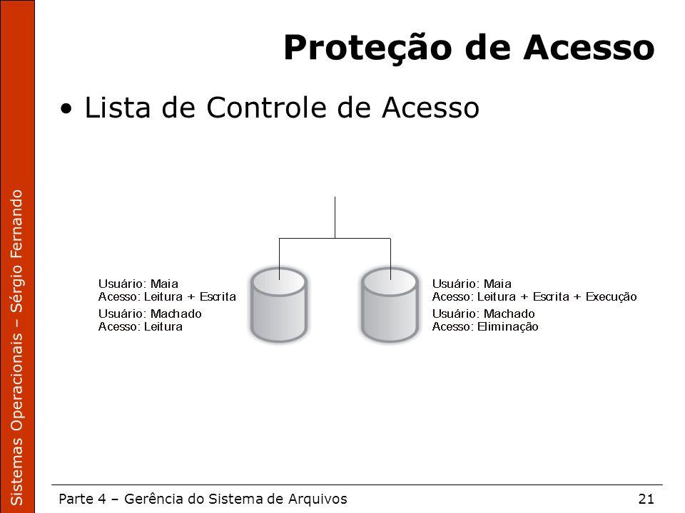 Proteção de Acesso Lista de Controle de Acesso