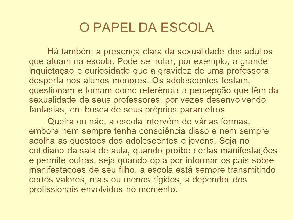 O PAPEL DA ESCOLA