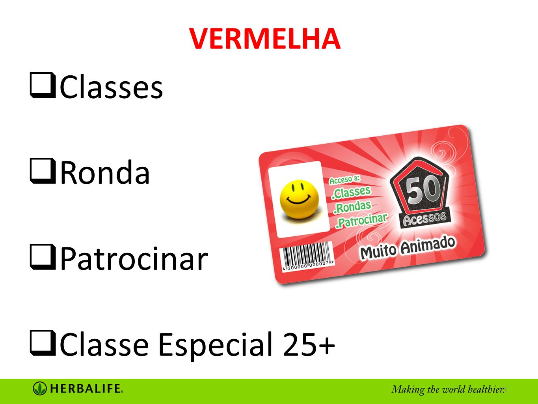 VERMELHA Classes Ronda Patrocinar Classe Especial 25+ 13