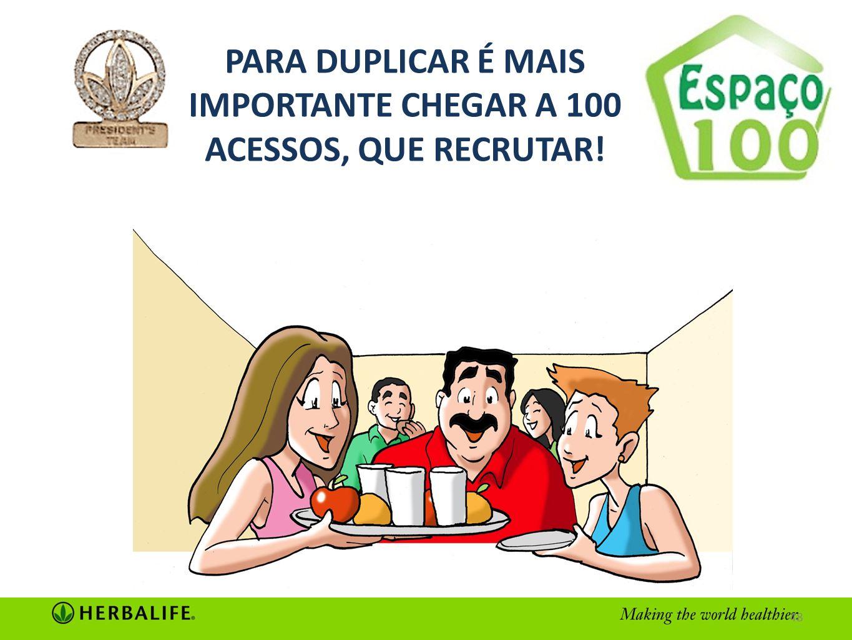PARA DUPLICAR É MAIS IMPORTANTE CHEGAR A 100 ACESSOS, QUE RECRUTAR!