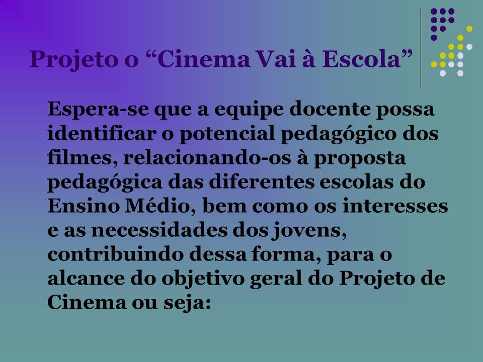 Projeto o Cinema Vai à Escola