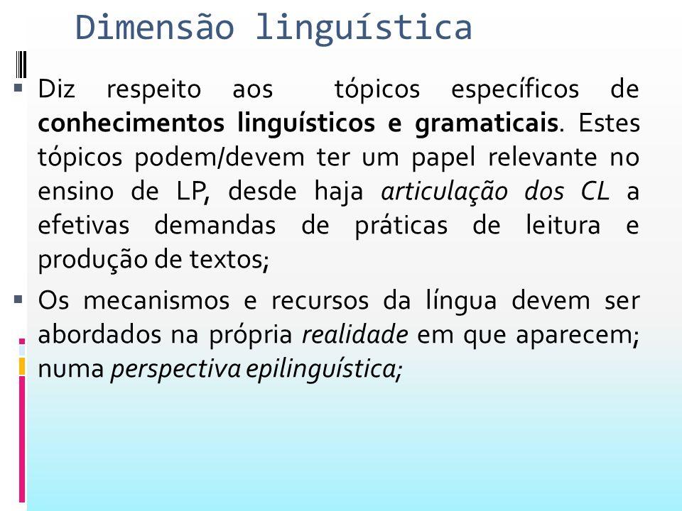 Dimensão linguística