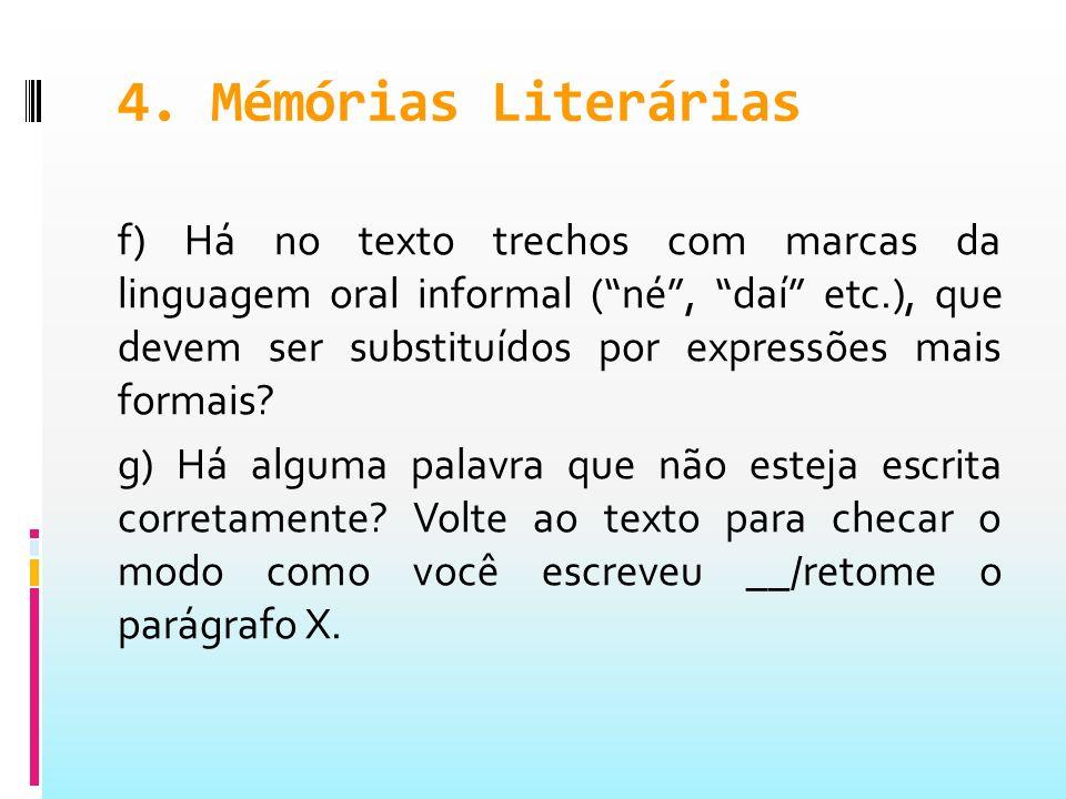 4. Mémórias Literárias