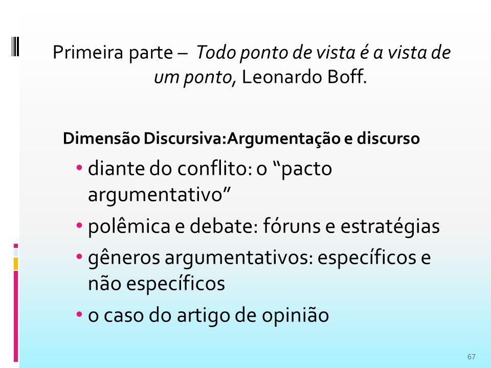 Dimensão Discursiva:Argumentação e discurso