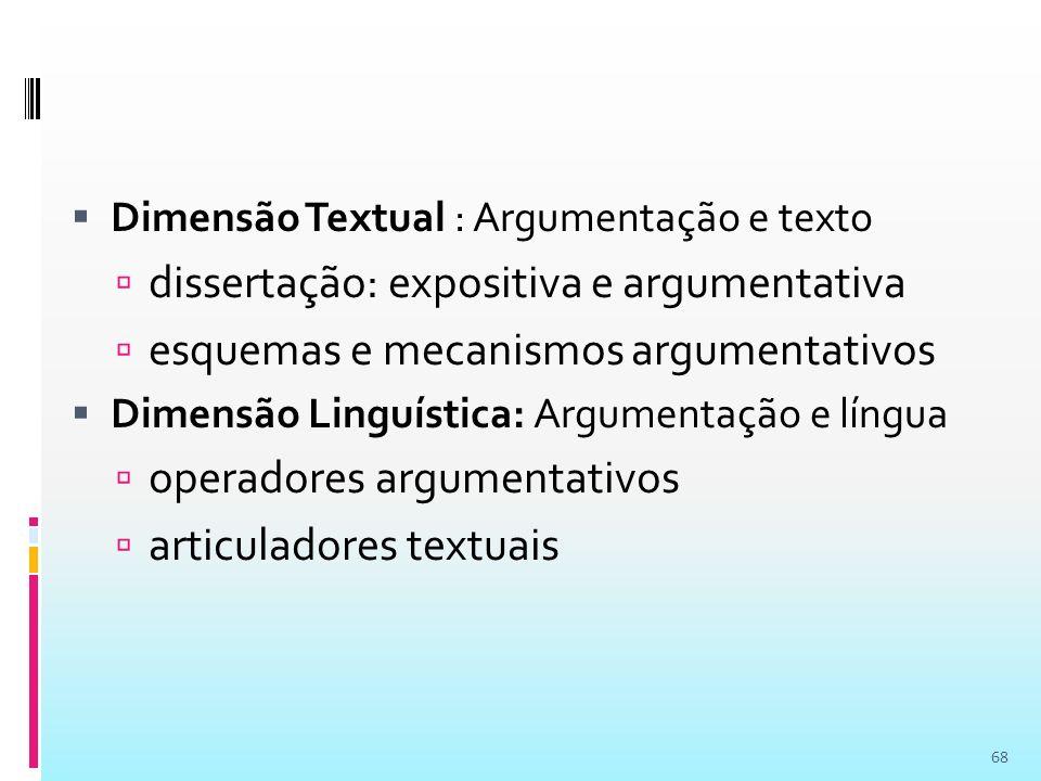 dissertação: expositiva e argumentativa