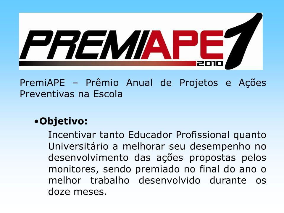 PremiAPE – Prêmio Anual de Projetos e Ações Preventivas na Escola
