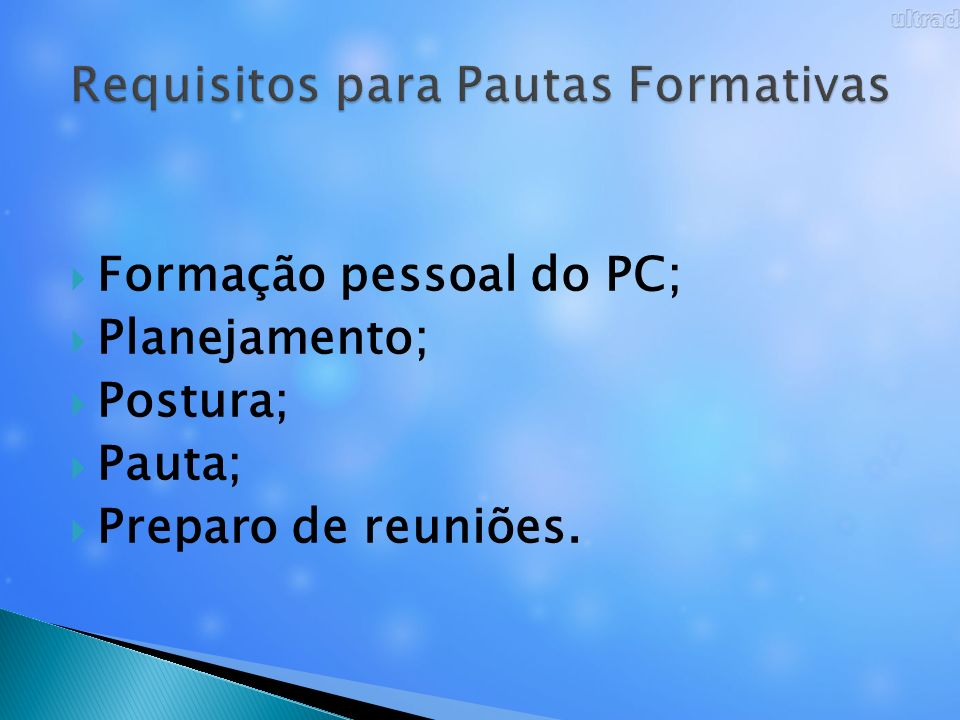 Requisitos para Pautas Formativas