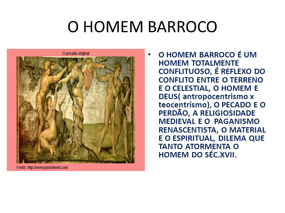 O HOMEM BARROCO