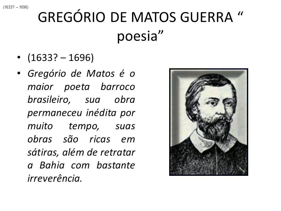 GREGÓRIO DE MATOS GUERRA poesia