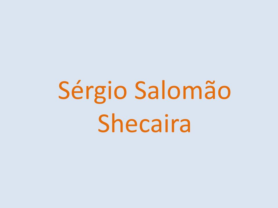 Sérgio Salomão Shecaira