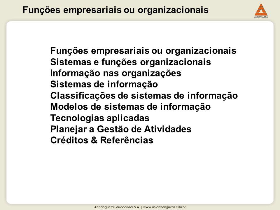 Funções empresariais ou organizacionais