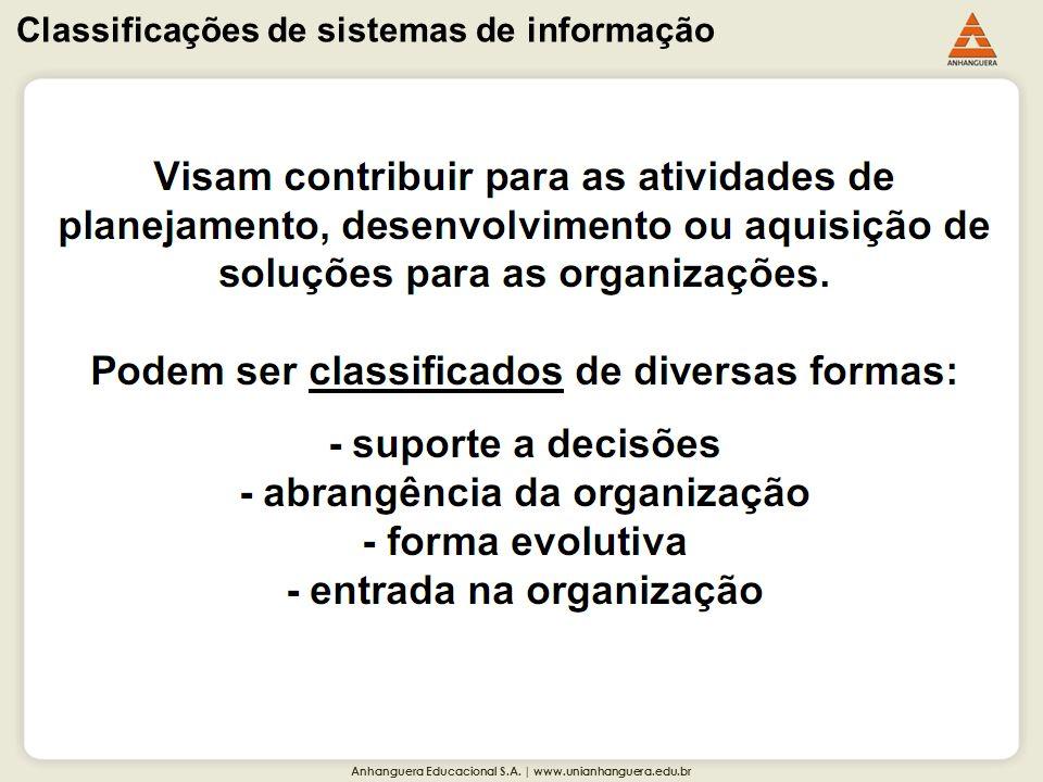 Classificações de sistemas de informação
