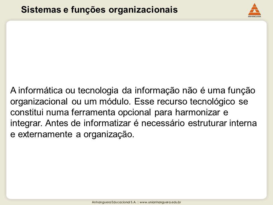 Sistemas e funções organizacionais
