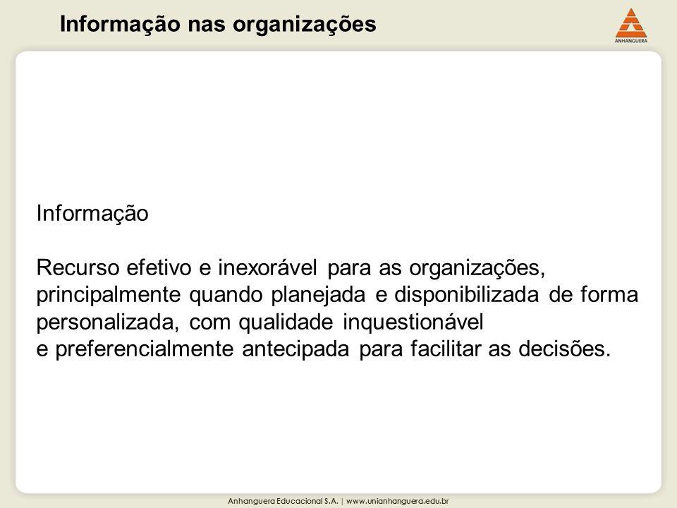 Informação nas organizações