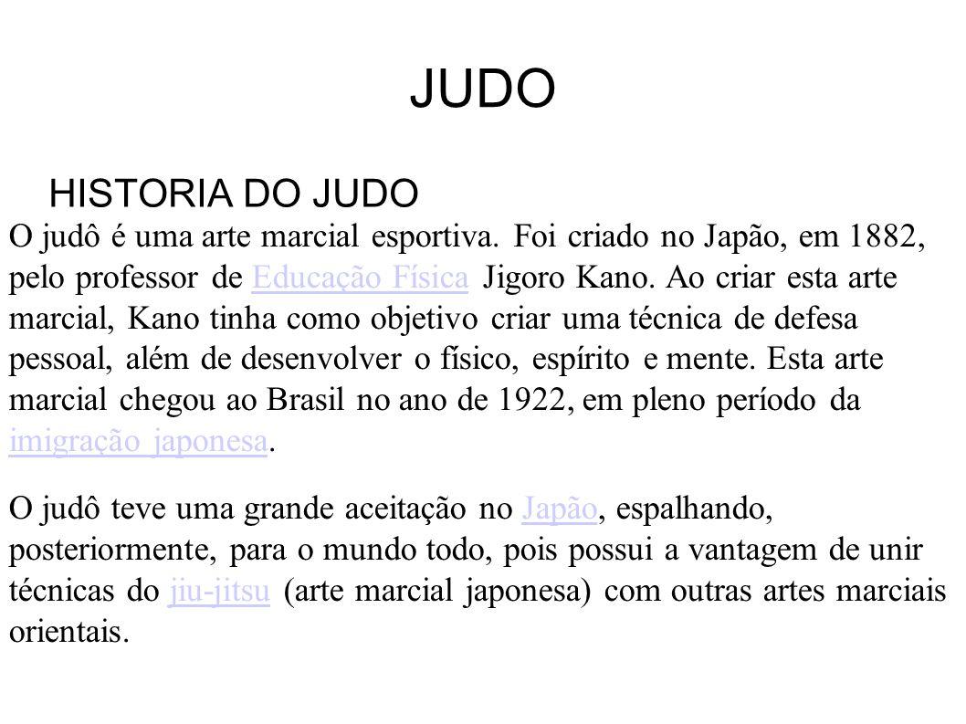 JUDO HISTORIA DO JUDO.