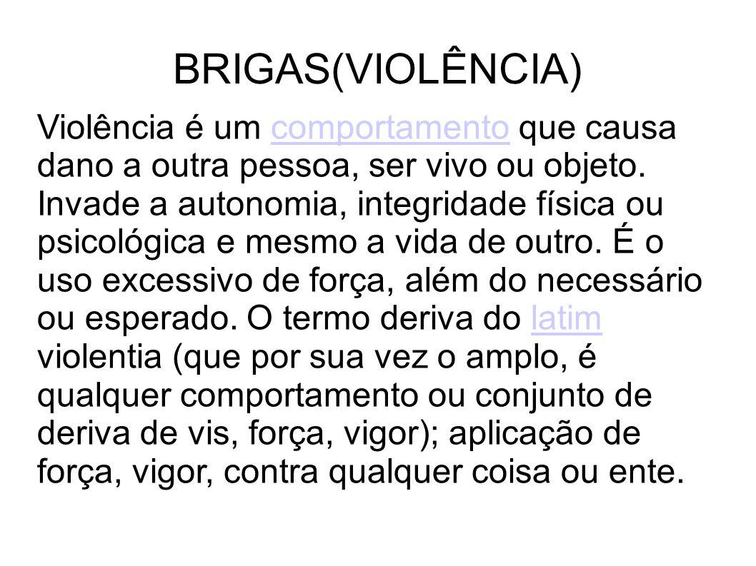 BRIGAS(VIOLÊNCIA)