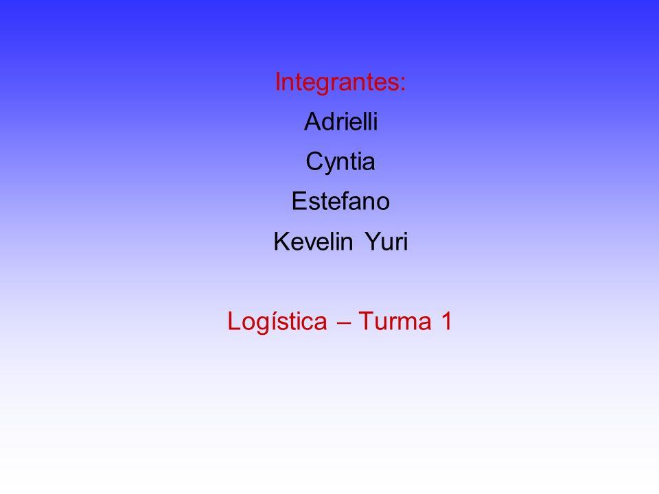 Integrantes: Adrielli Cyntia Estefano Kevelin Yuri Logística – Turma 1