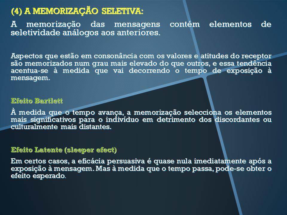 (4) A MEMORIZAÇÃO SELETIVA: