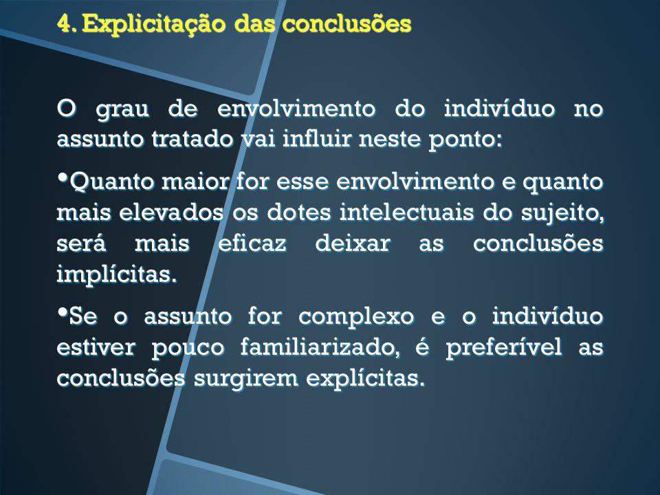 4. Explicitação das conclusões