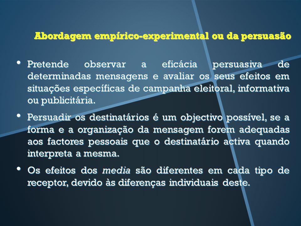 Abordagem empírico-experimental ou da persuasão