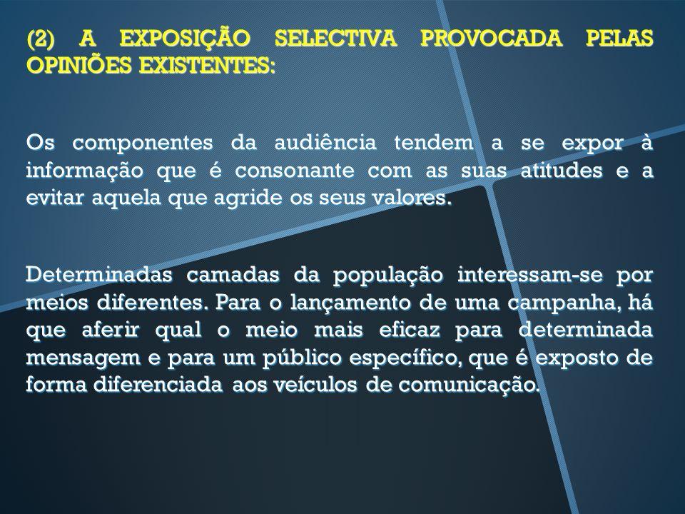 (2) A EXPOSIÇÃO SELECTIVA PROVOCADA PELAS OPINIÕES EXISTENTES: