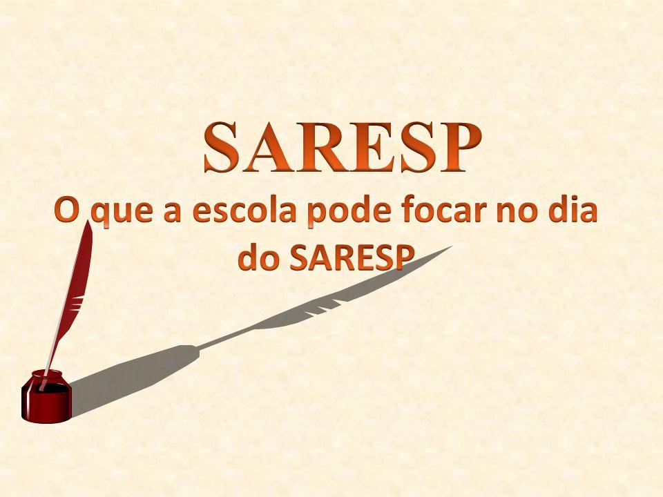 O que a escola pode focar no dia do SARESP