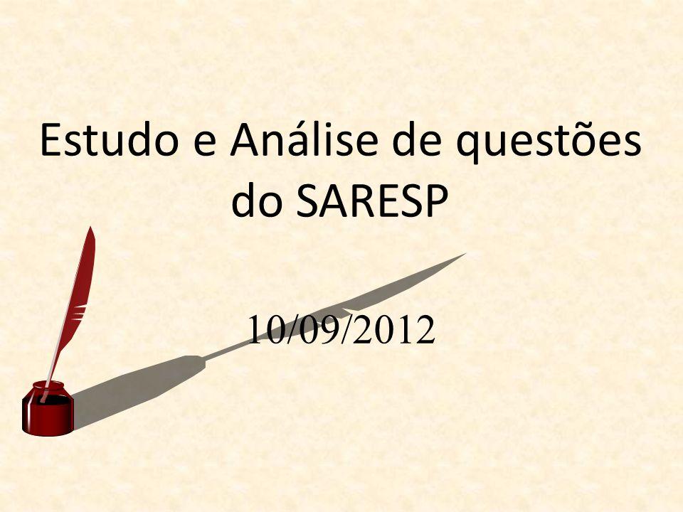 Estudo e Análise de questões do SARESP