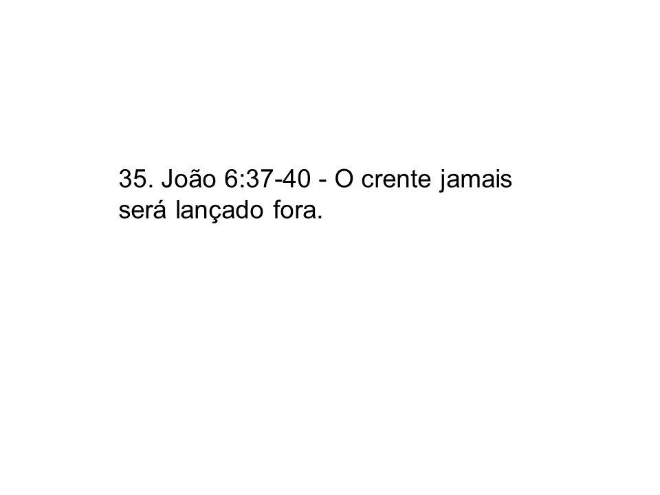35. João 6:37-40 - O crente jamais